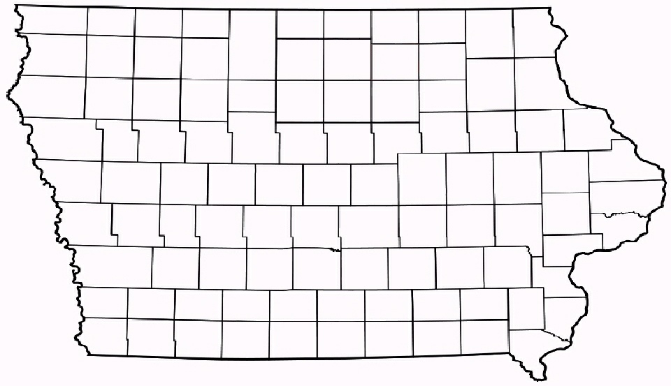 Map Quiz Iowa Counties - Map of iowa counties